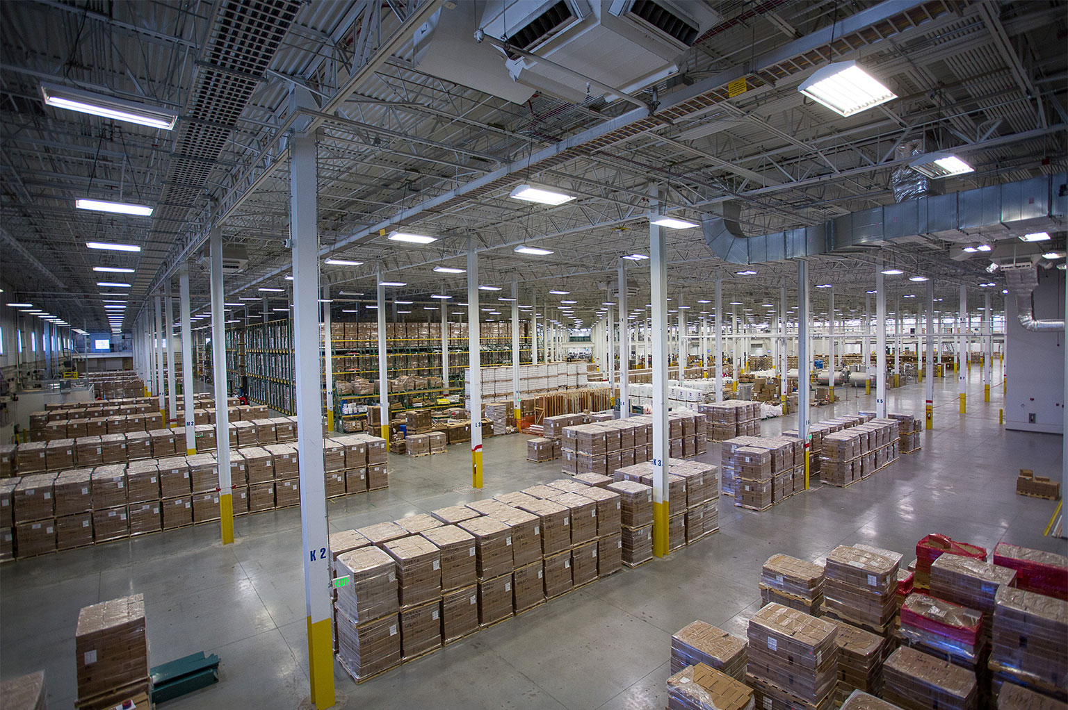 Photo of an organized warehouse