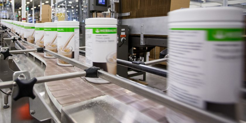 Herbalife container packaging line