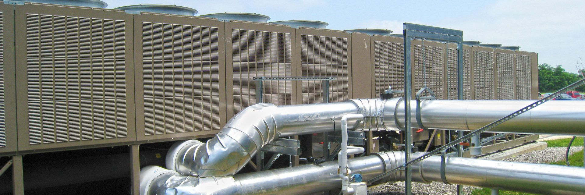 A large chiller outside, which could be made more efficient with an ice storage system