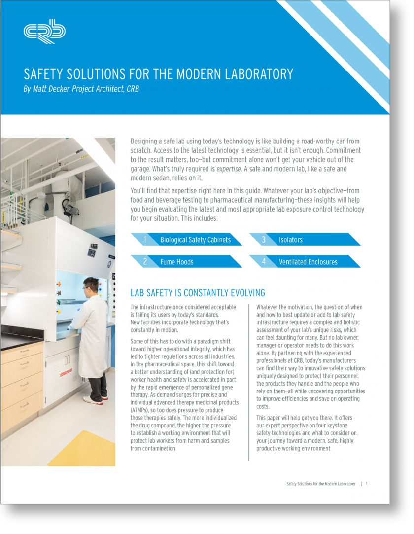 Safety Solutions for the Modern Laboratory 1