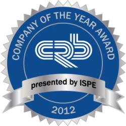 CRB Receives ISPE 2012 Company of the Year Award