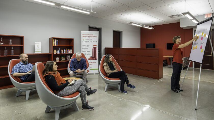 Plant-based food innovation lab collaboration space