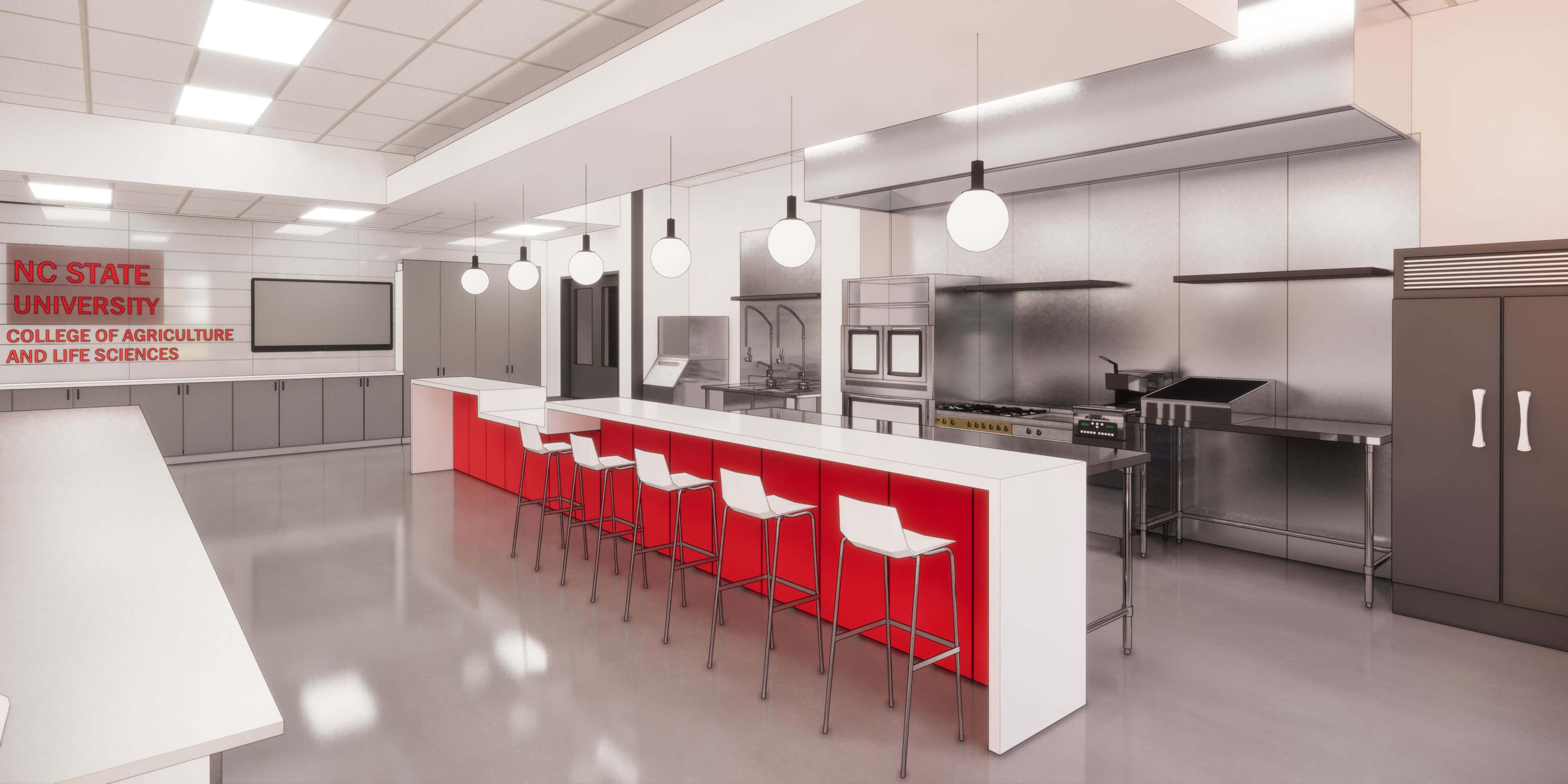 NCFIL Test kitchen rendering