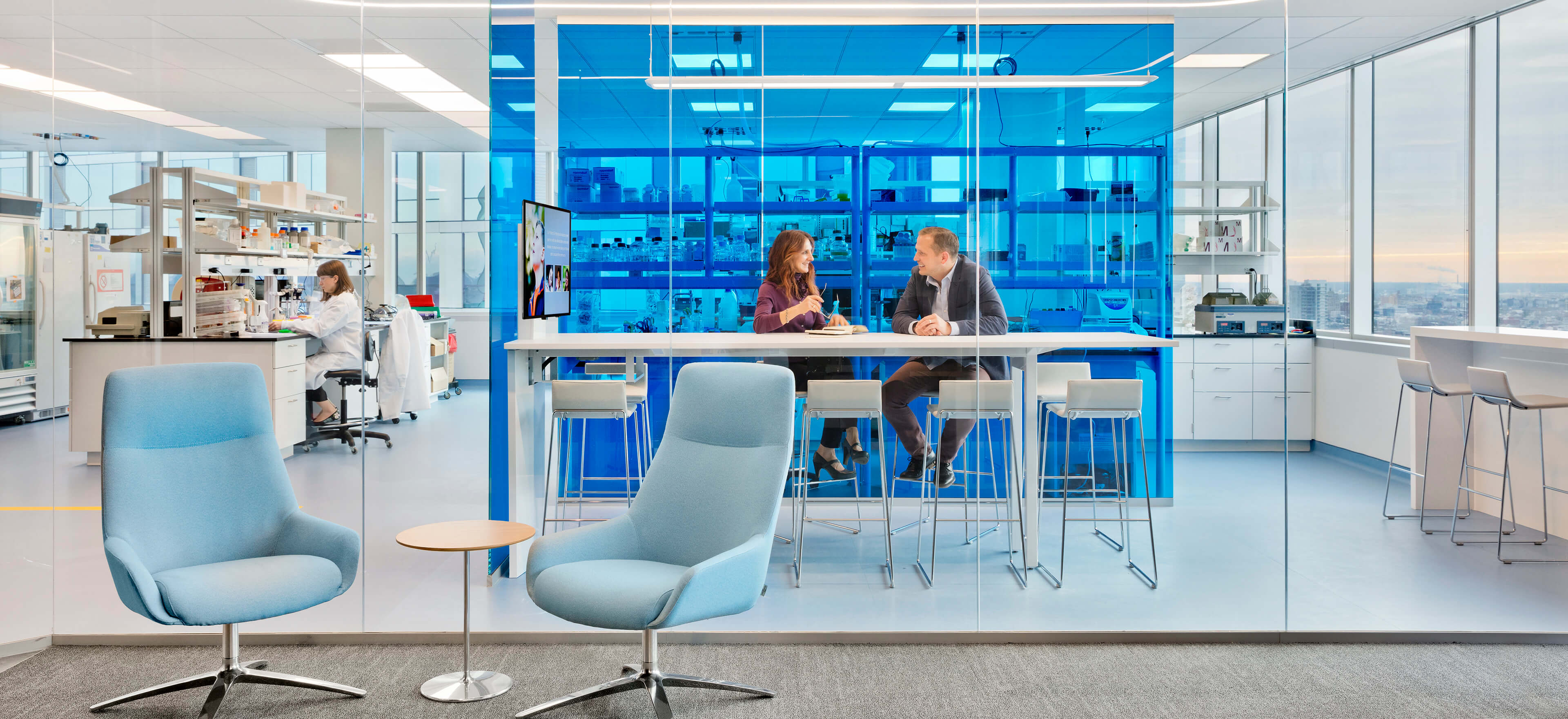 Gene therapy lab and collaborative space