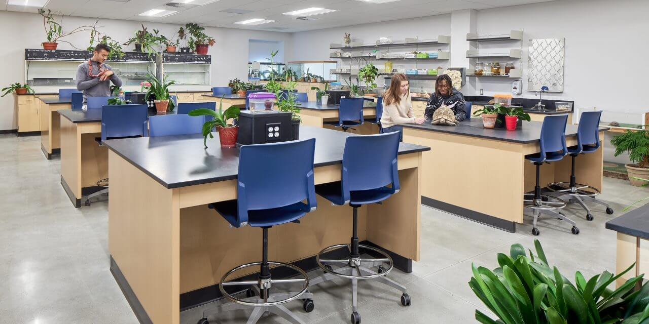 Dunklau Center for Science and Math lab design