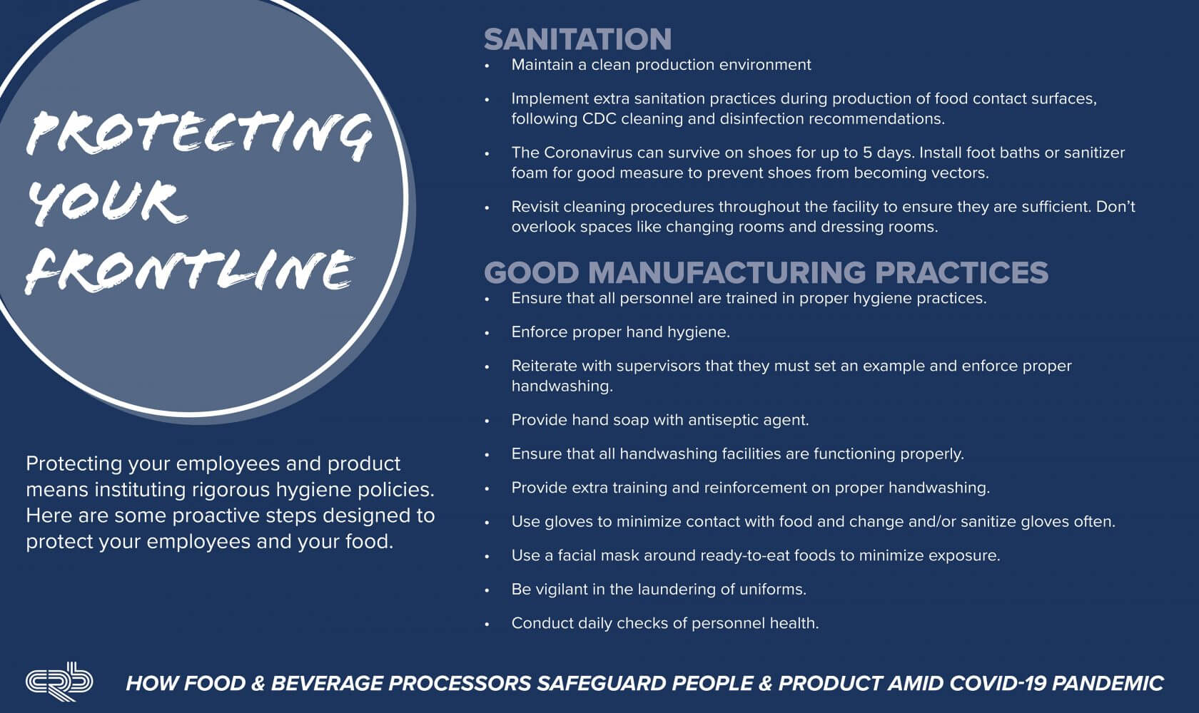 COVID food processing protect employees
