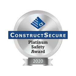 ConstructSecure Platinum Award
