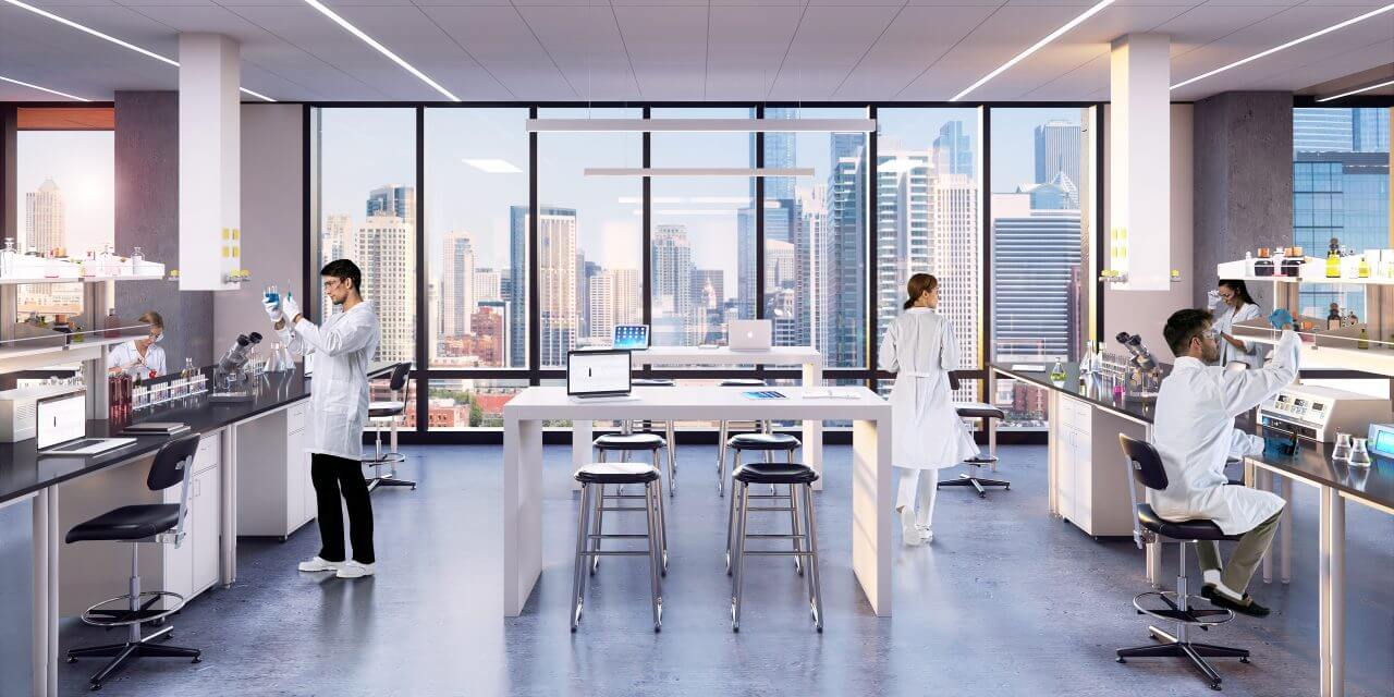 Lab planning for life sciences laboratory and office complex