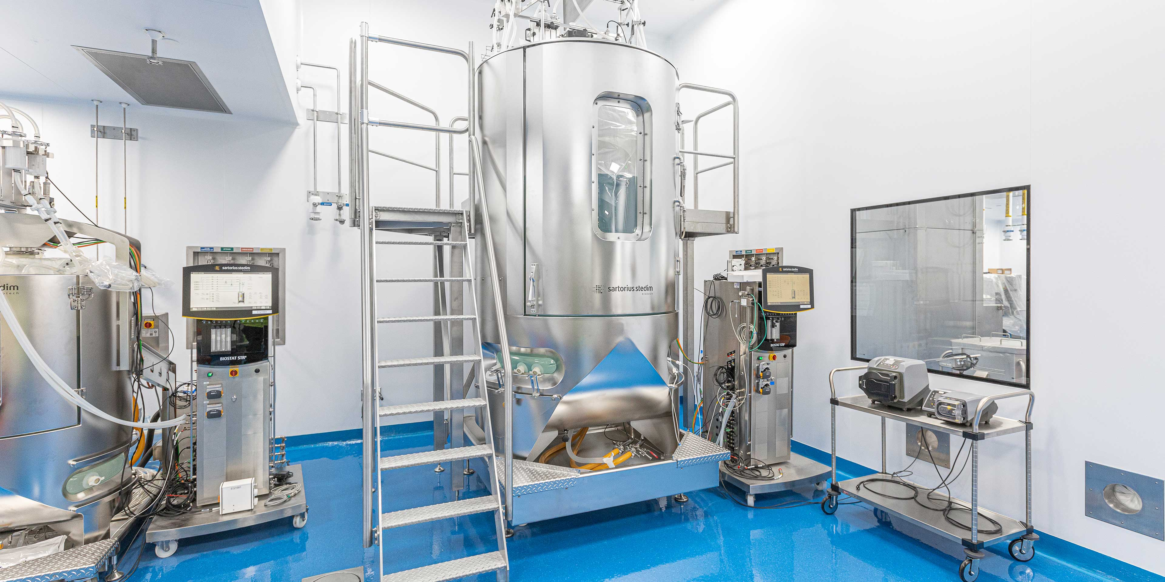 Bioreactors in Abzena's biopharma expansion project