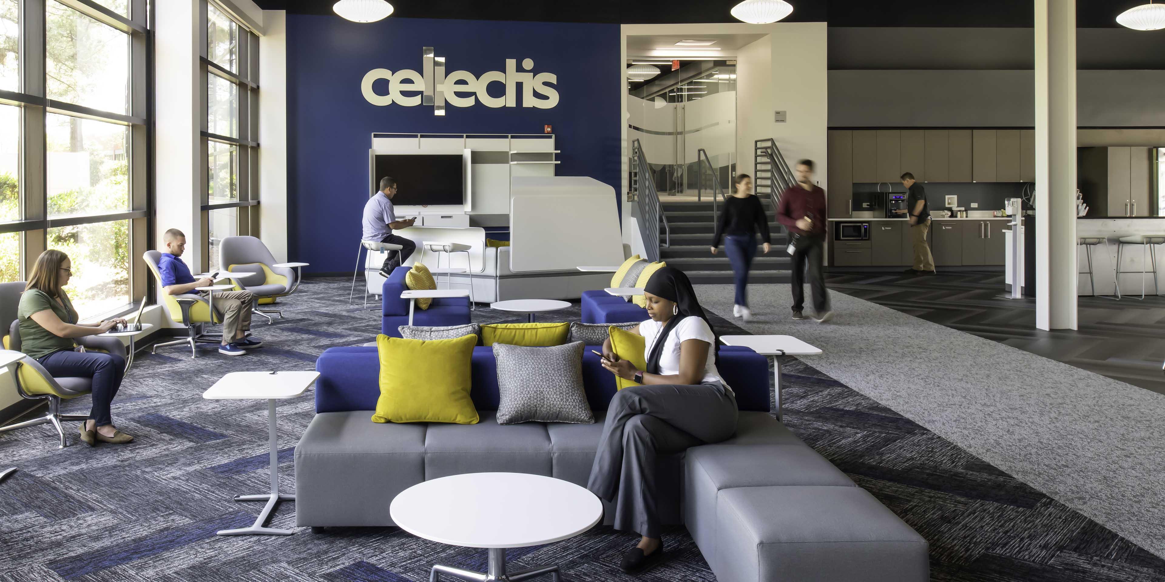 Cellectis lobby design - Raleigh, North Carolina