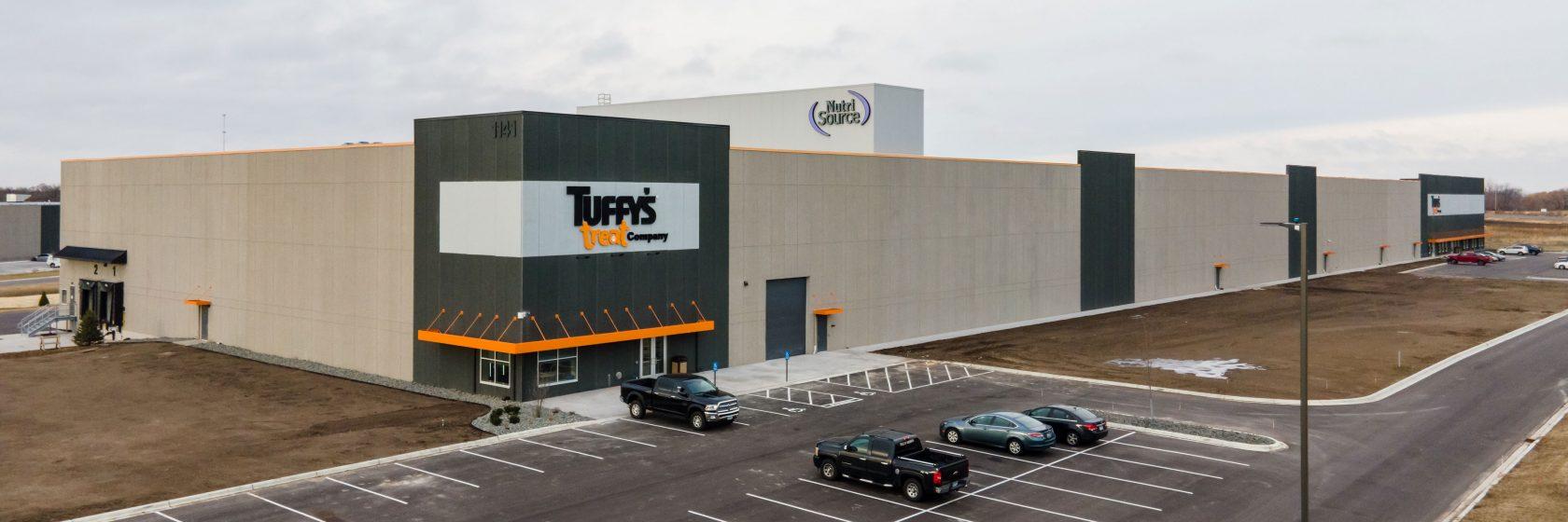 pet treat manufacturing facility exterior
