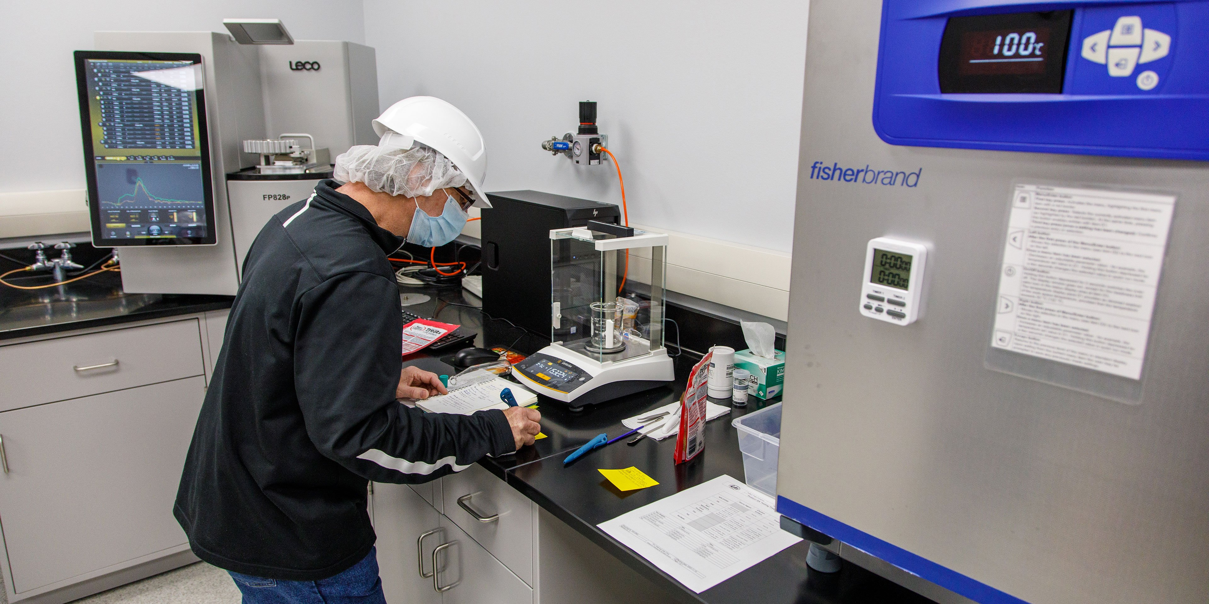 quality lab in pet treat manufacturing facility