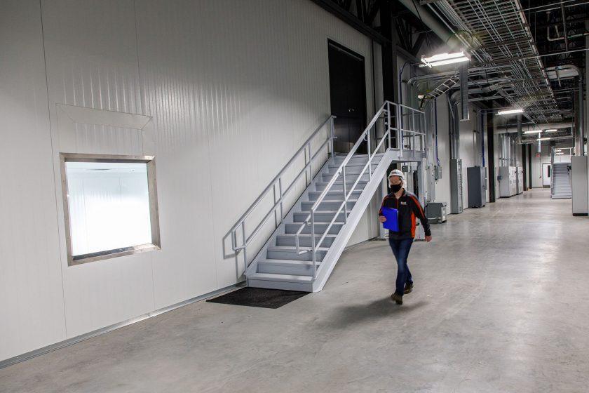 touring corridor inside Tuffy's pet treat manufacturing facility