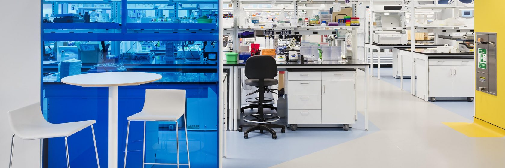 collaboration station in a lab