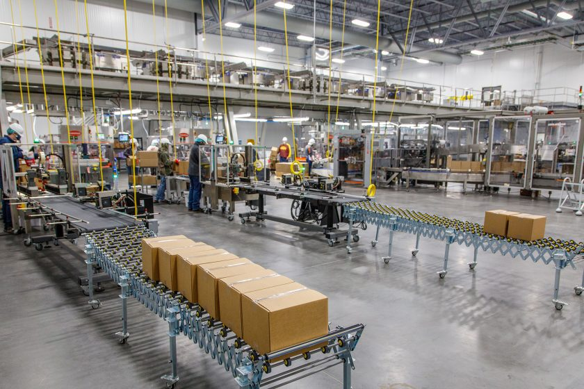 ultra-flexible packaging in pet treat manufacturing facility