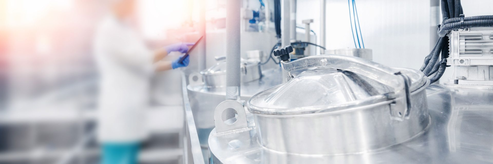 modern dairy processing tanks