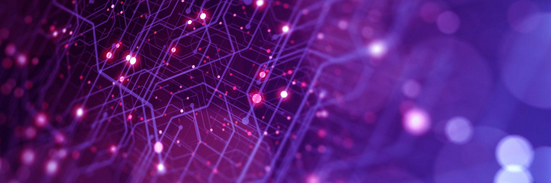 abstract circuits demonstrating digitalization