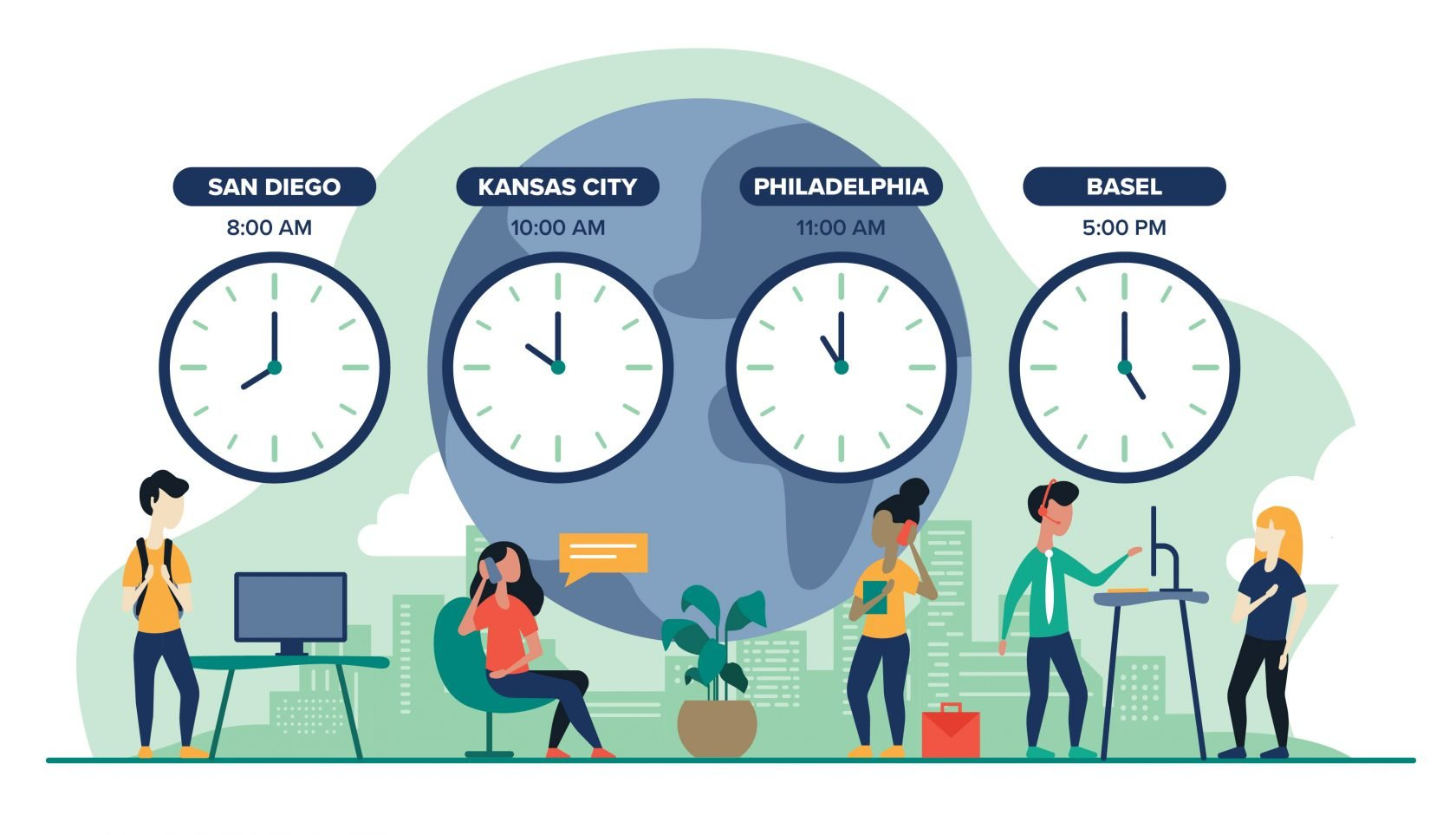 execute projects across timezones