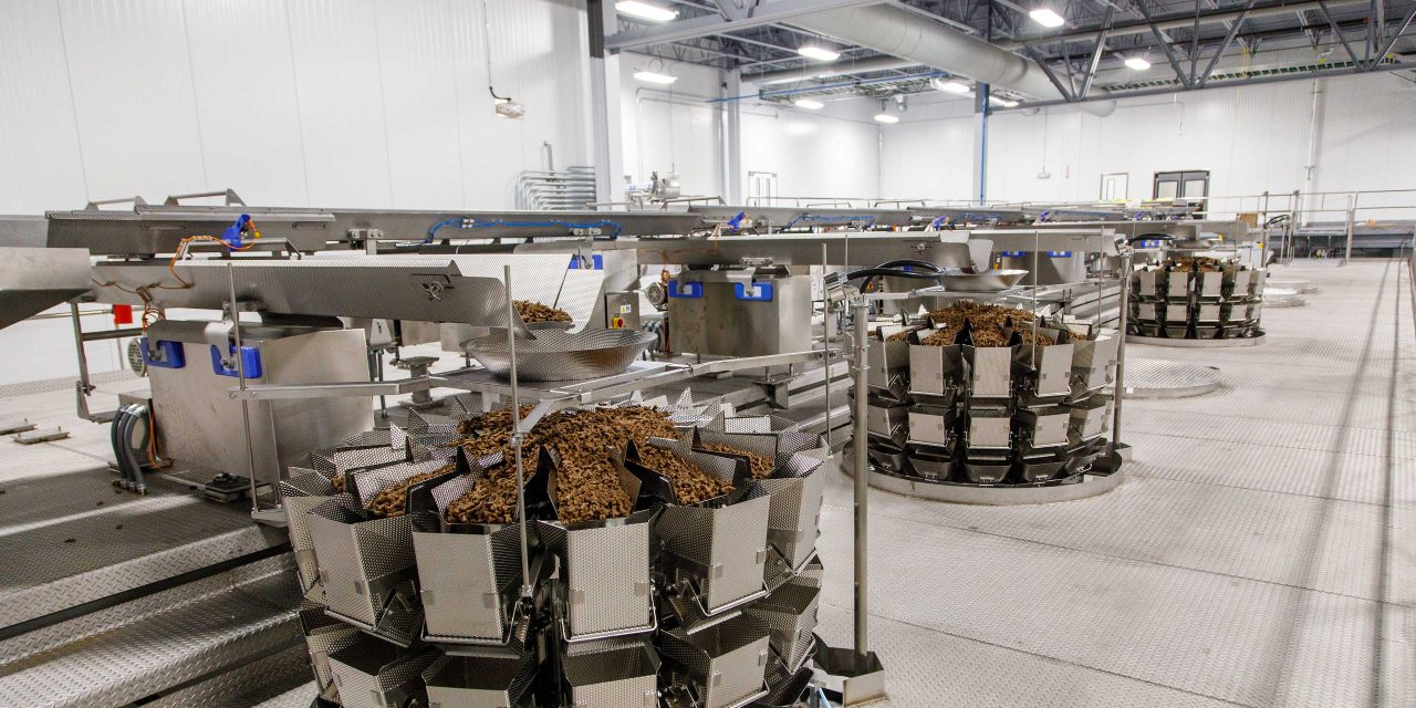 weigh dispense scales in pet treat facility
